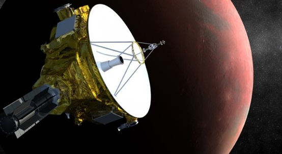 Artist's rendition of the New Horizons Spacecraft approaching Pluto (Credit: NASA/Johns Hopkins University Applied Physics Laboratory/Southwest Research Institute)