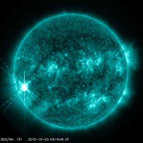X-class solar flare captured by NASA's Solar Dynamics Observatory satellite
