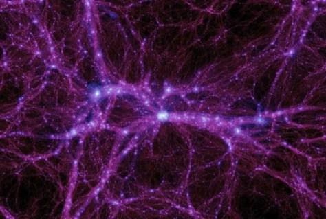 Simulation of networking of filaments between galaxies (Credit: Michael Boylan-Kolchin/University of California Irvine)