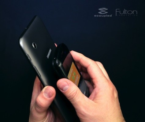Fulton has developed the technology to charge the phones and tablets wirelessly (Credit: Fulton)