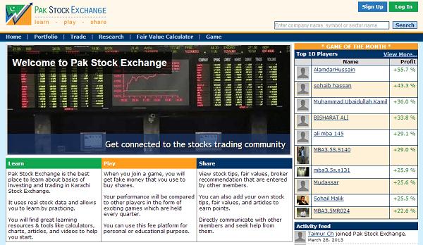 Pak Stock Exchange