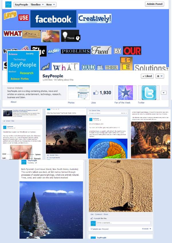 SayPeople page on Facebook