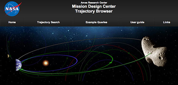 Trajectory Browser screenshot