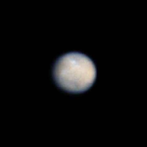 NASA Hubble Space Telescope color image of Ceres, the largest object in the asteroid belt. Credit: NASA/ESA/J. Parker (Southwest Research Institute), P. Thomas (Cornell University), L. McFadden (University of Maryland, College Park), and M. Mutchler and Z. Levay (STScI)