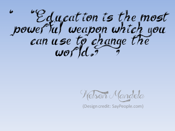Nelson Mandela quote by SayPeople