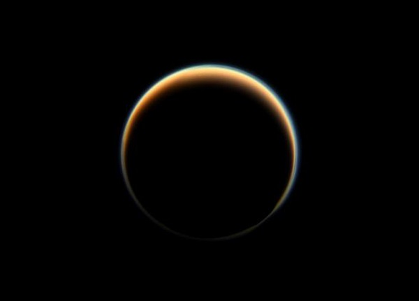 Titan with Halo (Credit: NASA/JPL-Caltech/Space Science Institute)
