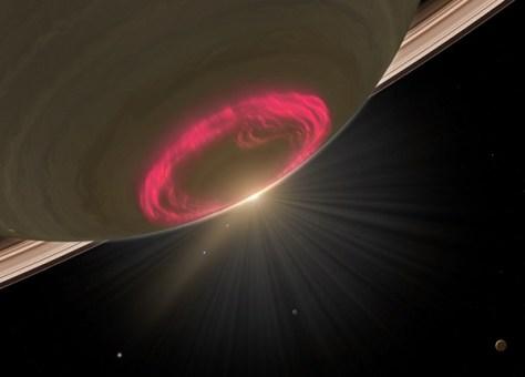 Aurora on Saturn (Credit: NASA)