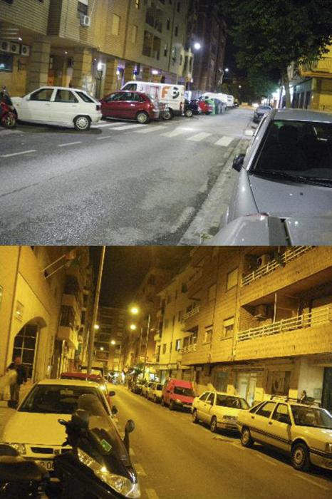 White light in street gives a feeling of safety (Image credit: Peña-García et al.)