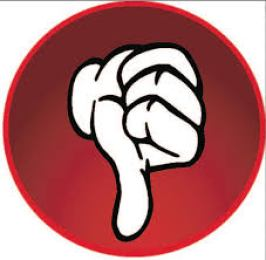 Thumbs down (representing work of lazy being) (Image source: press3.mcs.anl.gov)