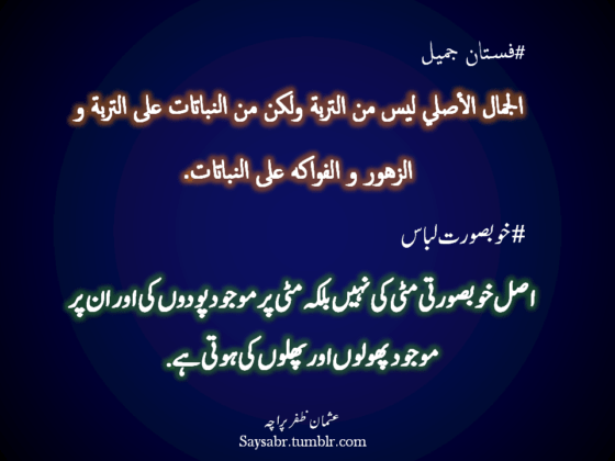 Khoobsurat Libaas (Arabic Urdu quote) | SayPeople