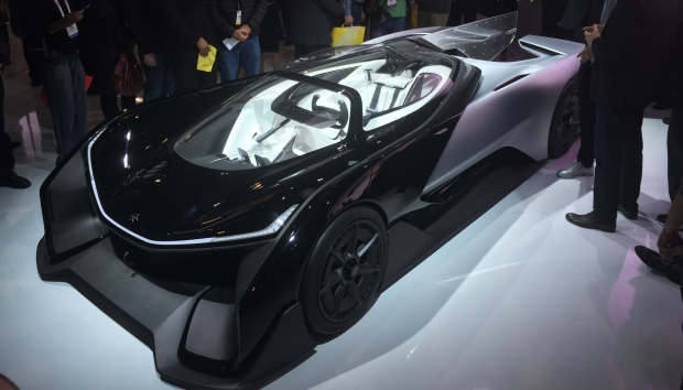 FFZERO1 Concept car by Faraday Future at CES