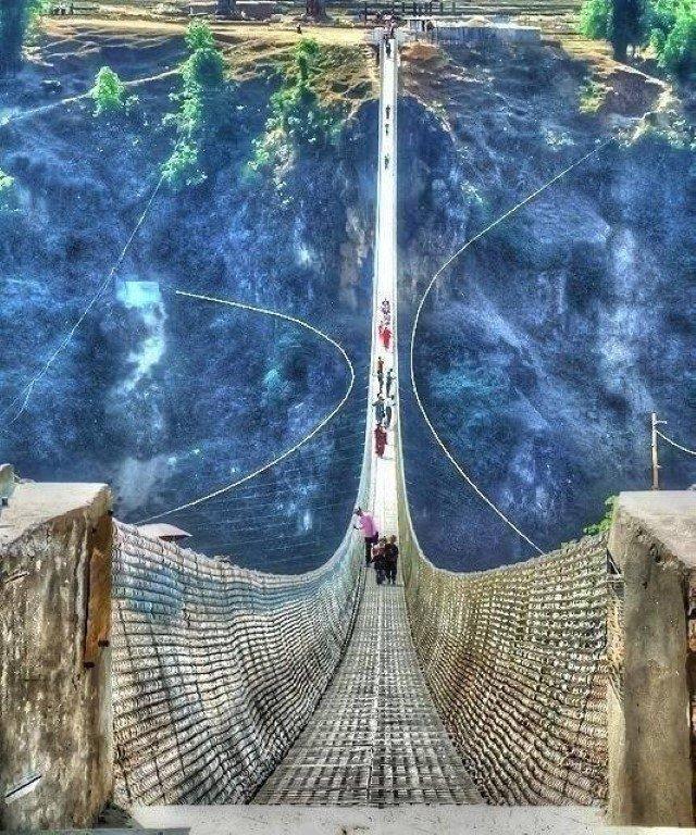 Kusma Gyadi Suspension Bridge, Nepal (Image credit: Fancy.com)