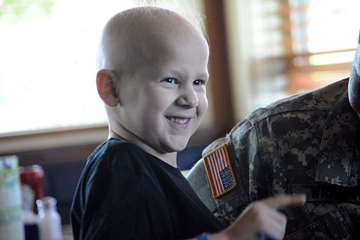 Six-year-old boy with cancer