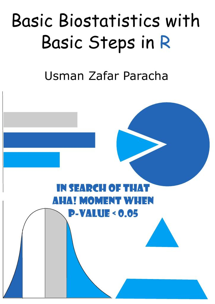 """Cover page of """"Basic Biostatistics with Basic Steps in R"""""""
