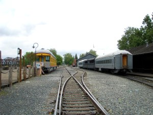 Pacific Rail Road Depot at Old Sacramento, California.
