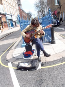 Street Performer at Portobello Road