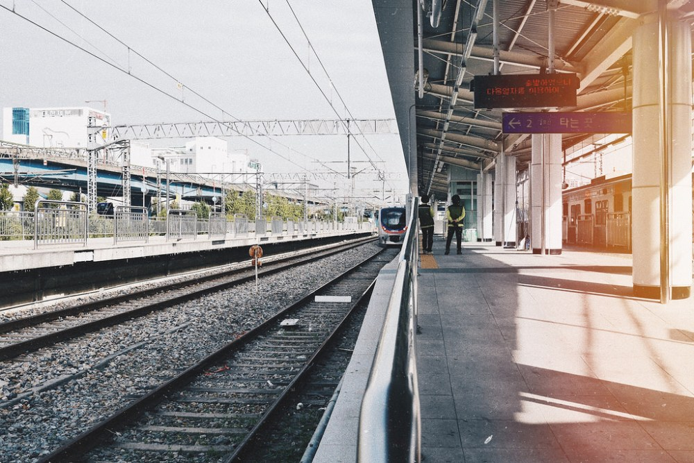 Travel Photographer | Train station at Incheon Chinatown South Korea