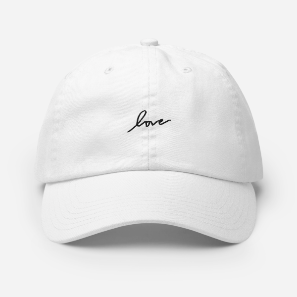 White Embroidered Champion Cap (Love)