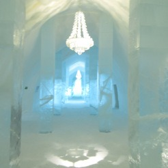 Ice chandelier in Ice Hotel Sweden