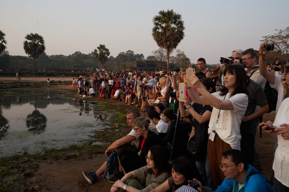 The crowds at Angkor Wat sunrise