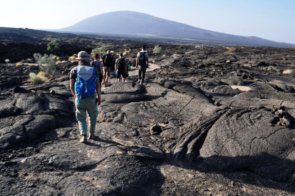 Hiking Erta Ale volcano in Ethiopia