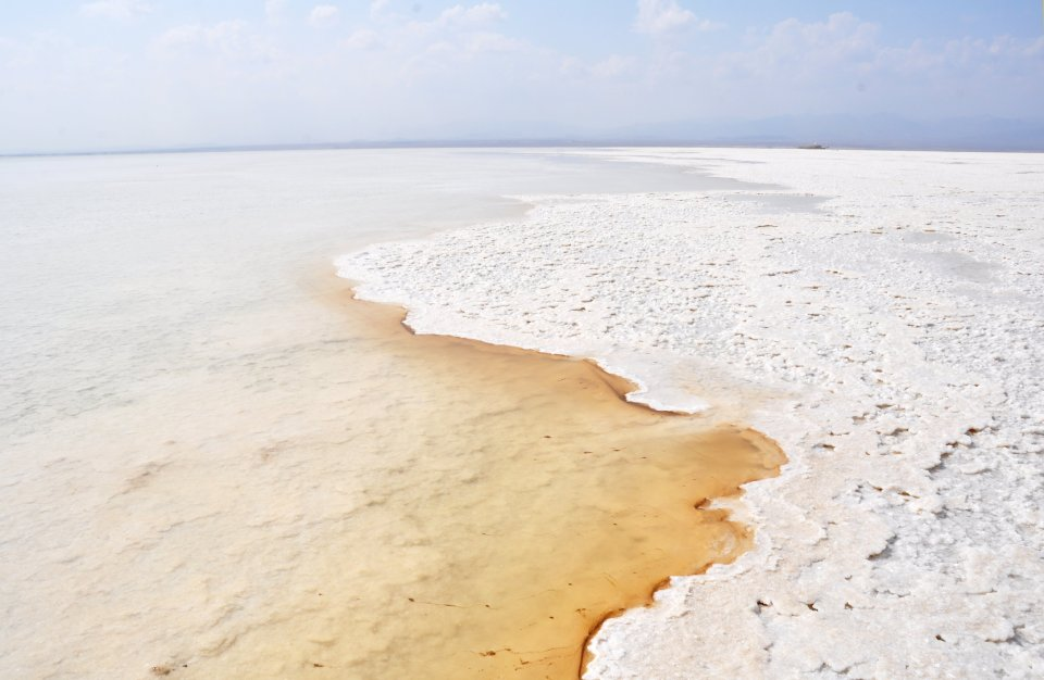Salt lake Danakil Depression