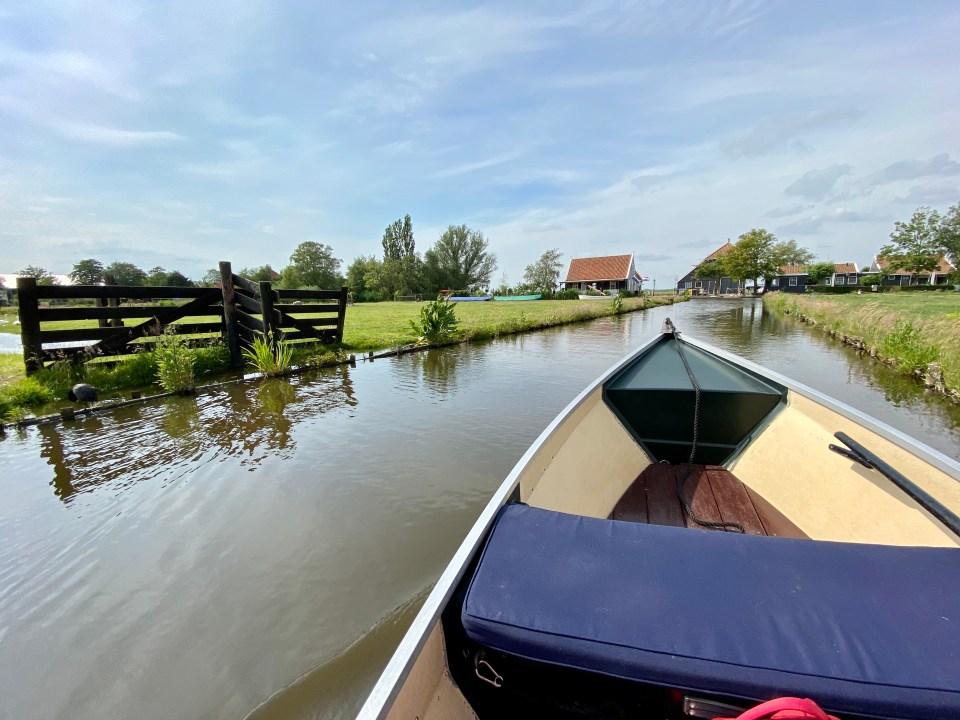 Exploring Amsterdam's countryside by boat