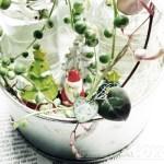 水挿ししたハートカズラとグリーンネックレスで、スノードーム風飾り付け!─X'mas ver.─【oyageeの植物観察日記】