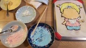 キャラケーキ色塗り