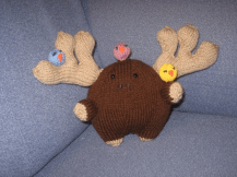 Pattern found in Anna Hrachovec's book 'Knitting Mochimochi', available on Amazon