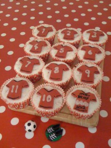 Cakes made for a Sport Relief challenge at work, where I came third in the category!