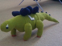 Pattern found in Tina Barret's book 'Knitted Dinosaurs'. Available on Amazon