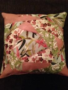 Crazy patch cushion