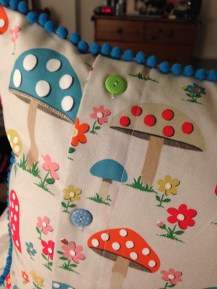 Close up of cushions and their buttons!