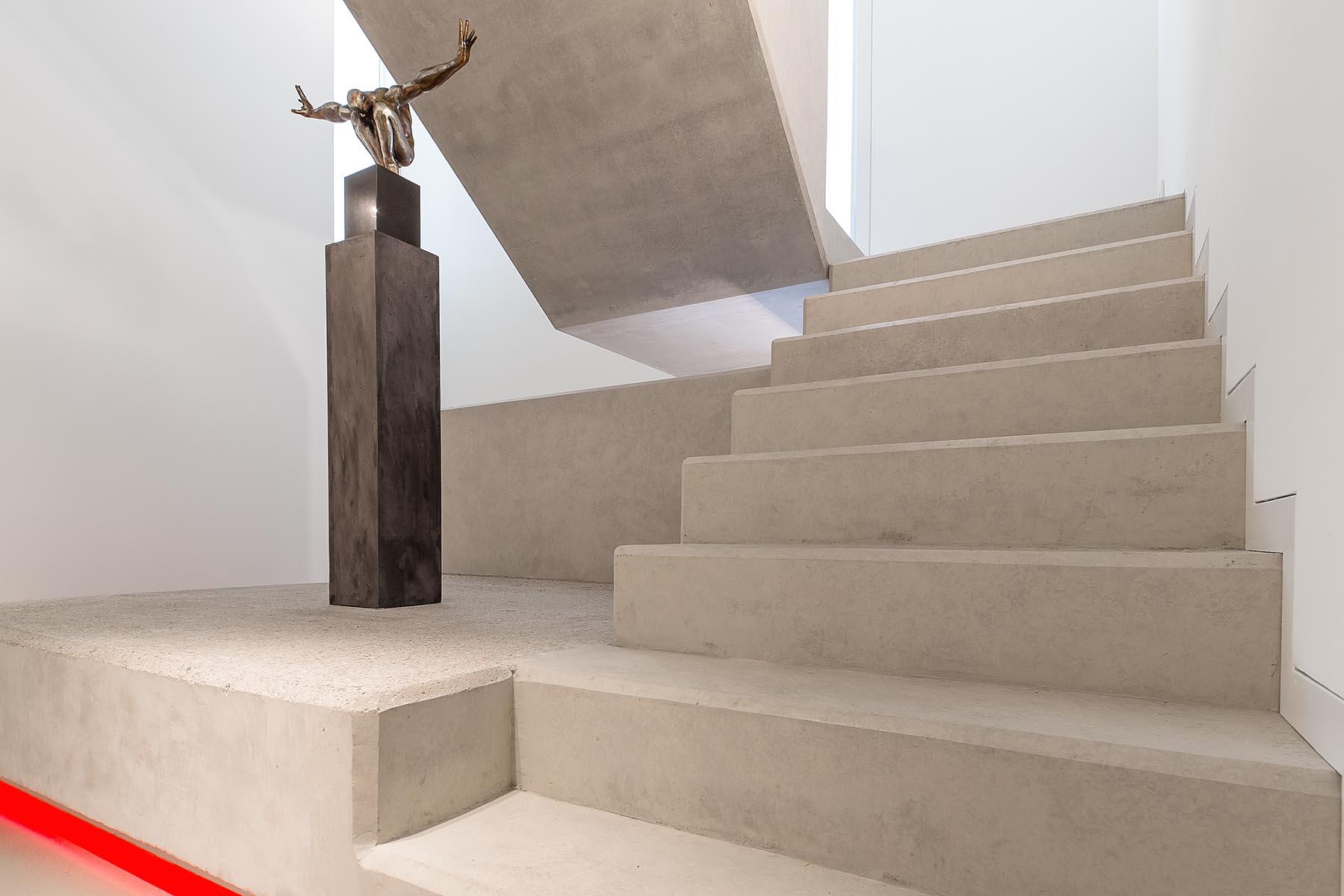 Sichtbeton Arbeitsplatte Kuche Als Skulptur Im Raum Bauemotion De