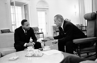 MLK and Lyndon B Johnson
