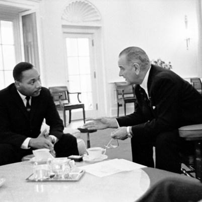 MLK and Lyndon B Johnson