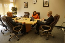 U.S. Representative Norma J. Torres meets with Randal S. Bassett, Superintendent of the Fontana Unified School District.