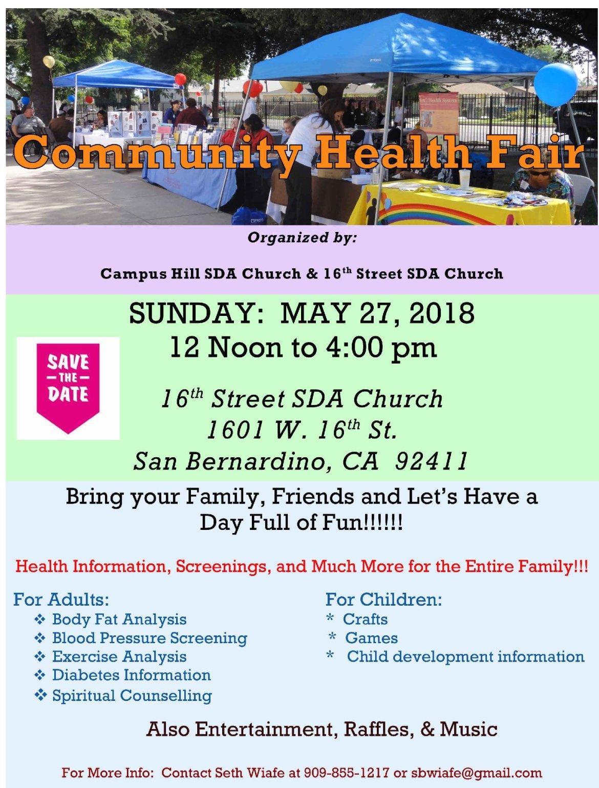 Health Fair 2018 Flyer2a