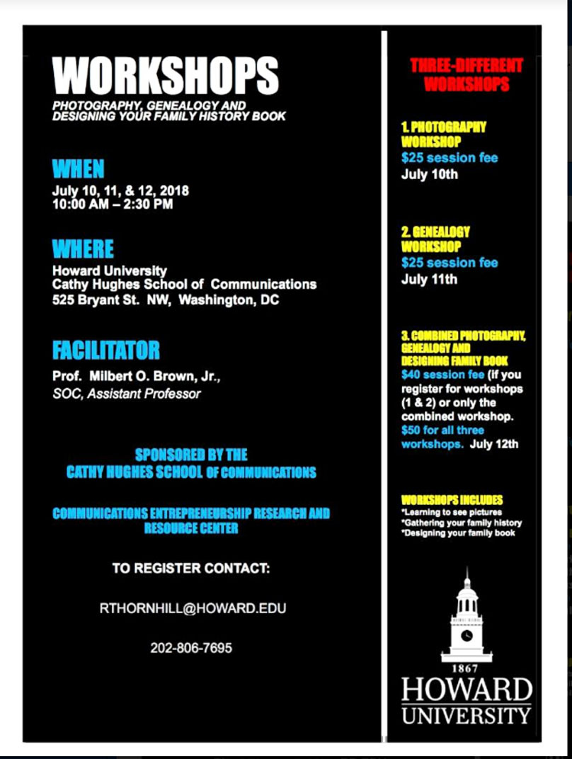 Howard University flyer