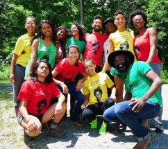 The Catatumbo Collective and other program participants during the 2017 Black-Latinx Farmer Immersion Program at Soul Fire Farm in Grafton, N.Y. (Image: Capers Rumph / courtesy of Soul Fire Farm)