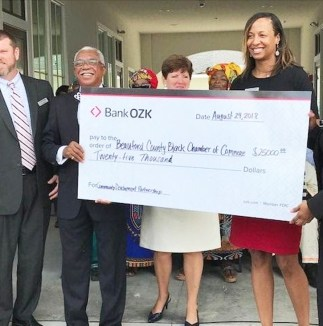 Bank OZK Officials provides BCBCC Chamber with a $25,000 Sponsorship.