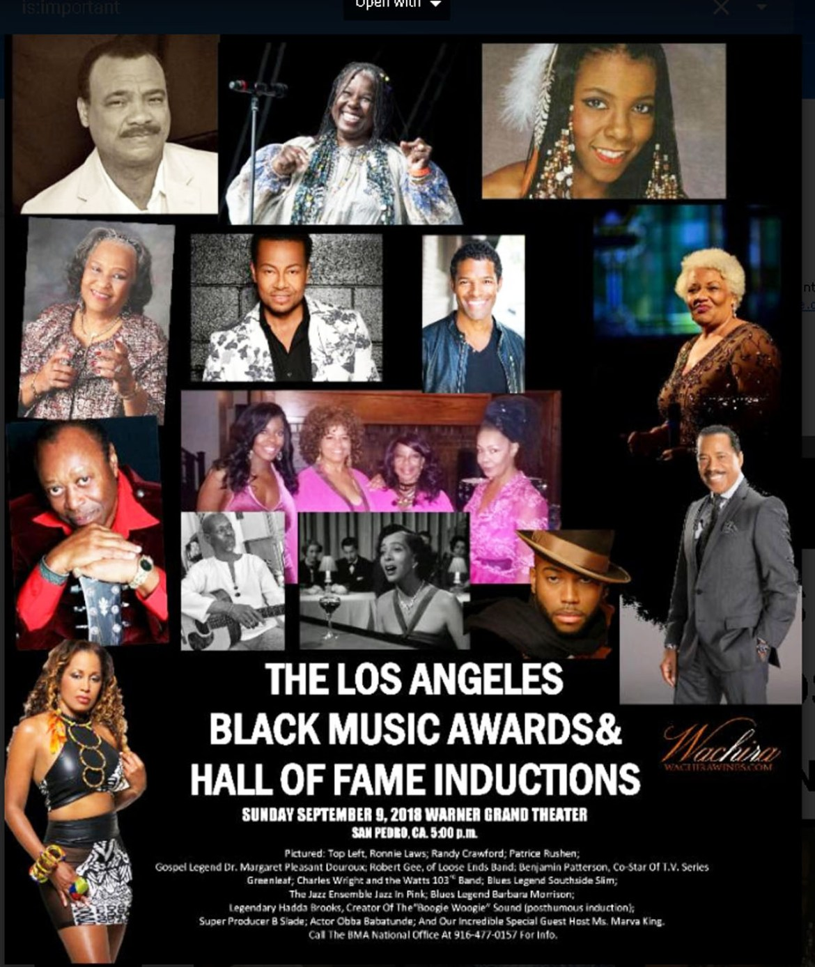 LA Black Music Awards Flyer 1