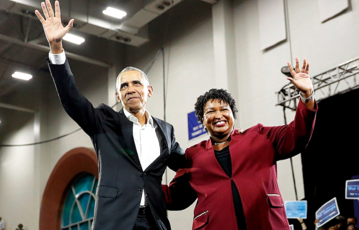 Obama and Stacy Abrams
