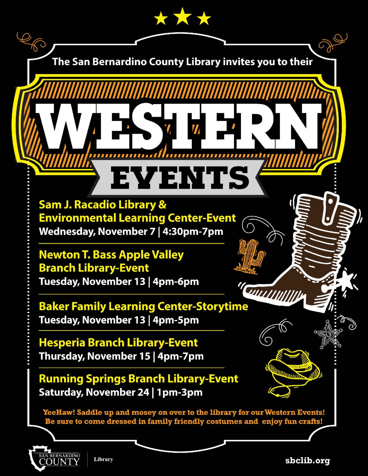 SBCL FB Western Events OCT18