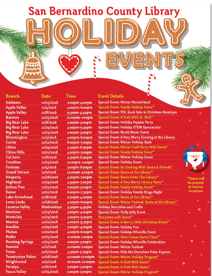 SB County Library Xmas Events
