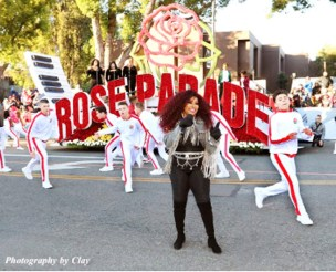 """Chaka Khan sings a medley of her songs in the Rose Parade's """"Opening Spectacular"""" segment. (Clayton Everett photo)"""