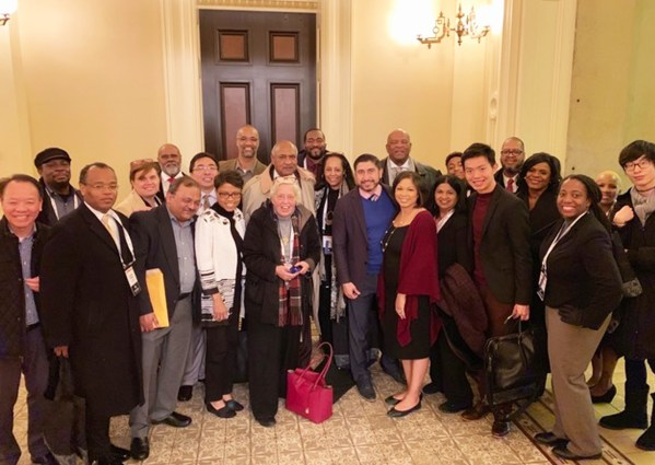 Ethnic media representatives from around the state at the State Capitol for CNPA annual conference