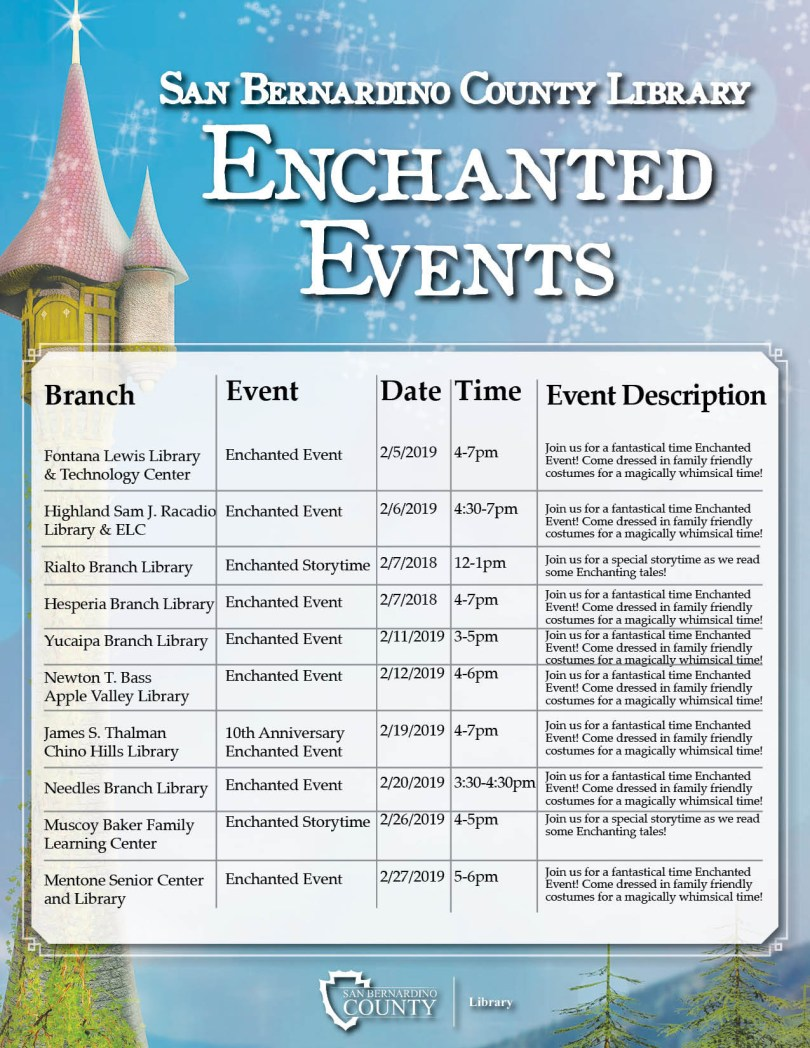 SBCL Enchanted Events JAN19