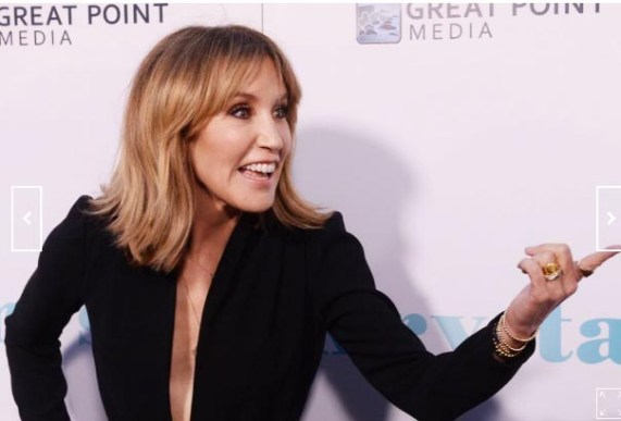 """Actress Felicity Huffman attends the premiere of the """"Krystal"""" in Hollywood on April 4, 2018. File Photo by Jim Ruymen/UPI 